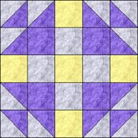 Mrs Kellers Nine Patch quilt block