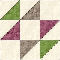 Old Maid's Puzzle quilt block