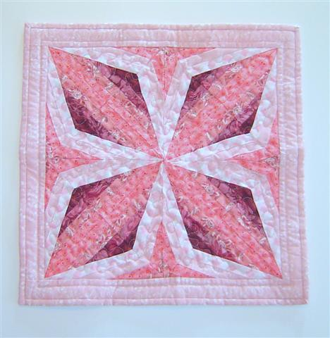 Quarter Square Triangle strips quilt
