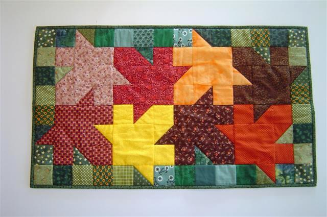 Tesselating Leaves quilt