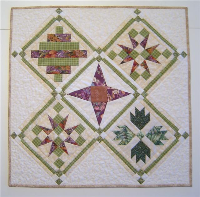 Diagonal Sampler quilt