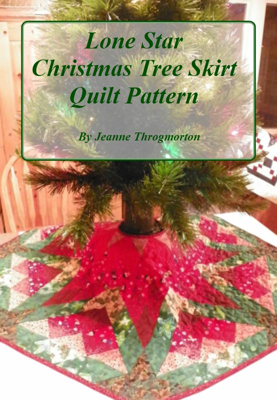 Lone Star Christmas Tree Skirt quilt pattern