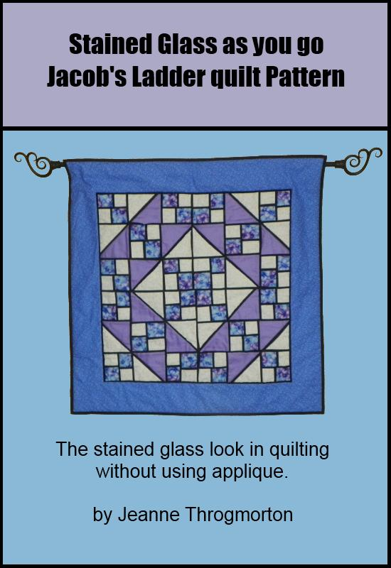 Stained Glass Jacobs Ladder Quilt Pattern
