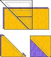 Half Square Triangle instructions