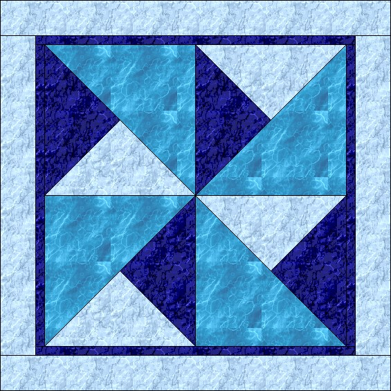 The big block quilt for today is the Broken Pinwheel. Use the block ...